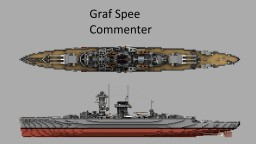 KMS Graf Spee 1:1 Scale Minecraft Map & Project