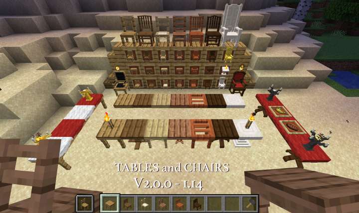 Phenomenal Tables And Chairs V3 3 0 1 14 4 Minecraft Data Pack Camellatalisay Diy Chair Ideas Camellatalisaycom