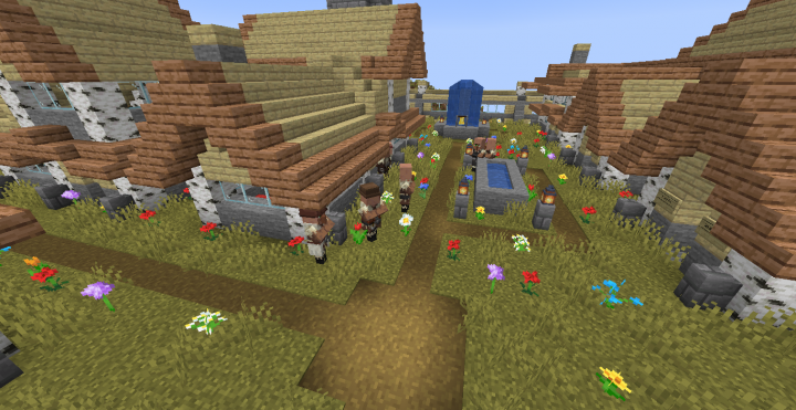 Village on a Mountain (MC 1 14) Minecraft Project
