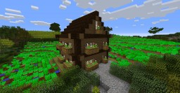 Spruce House in a farm Minecraft Map & Project