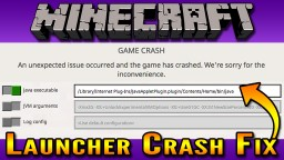 2019 Minecraft Crash on Launch Fix | Java Arguments Fix  (Mac OS) Minecraft Blog