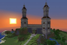 Two towers with a gate Minecraft Map & Project