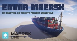 Emma Maersk [Cargo Ship] (GF version: Mearsk) Minecraft Map & Project