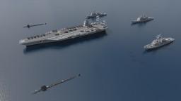 U.S.S. Enterprise CVN-80 Strike Group [1.5:1 Scale] Minecraft Map & Project