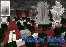 Wizards' Tower in White Baroque Minecraft Map & Project