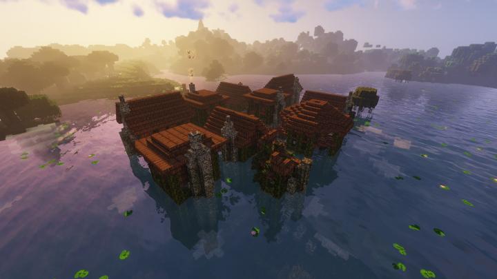 "The swamp village of ""Wranna""."