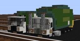Waste Management Mack LR and Peterbillt 520 Garbage Trucks Minecraft Map & Project