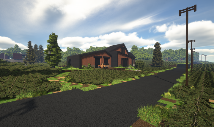 Popular Server Project : Contemporary Brick House - TheVisual_Play
