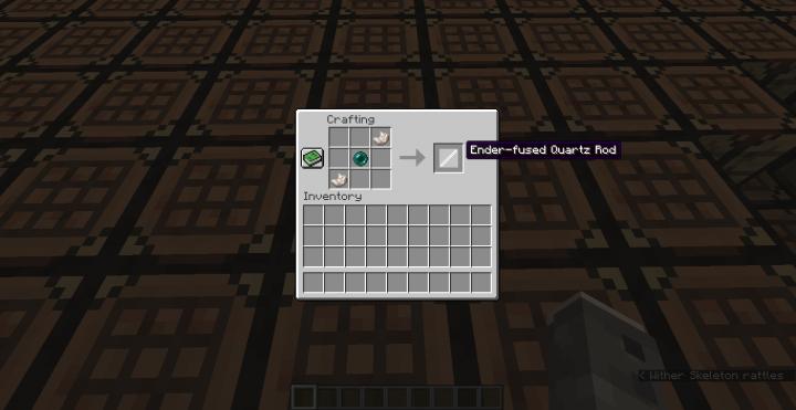 Recipe Ender-fused Quartz Rod