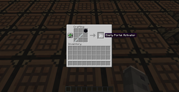 Recipe Empty Portal Activator