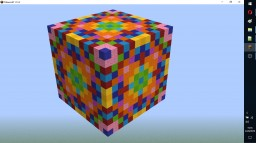 Kaleidoscope Cube 1.13+ Minecraft Map & Project