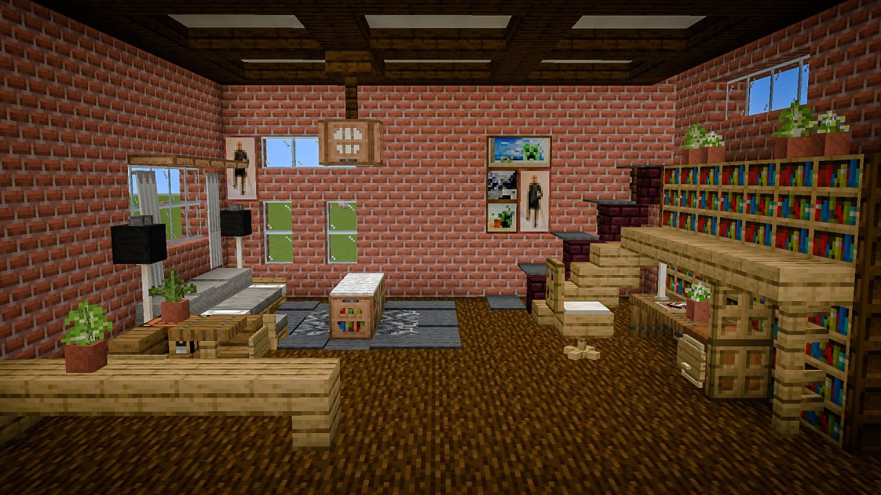 Industrial Style Living Room Minecraft Project