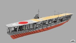 IJN Kaga 1:1 Scale Minecraft Map & Project