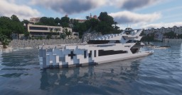 """Attempt for """"modern yacht"""" - Aliénor d'Aquitaine Minecraft Map & Project"""