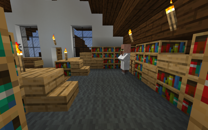 New library and lounge area...