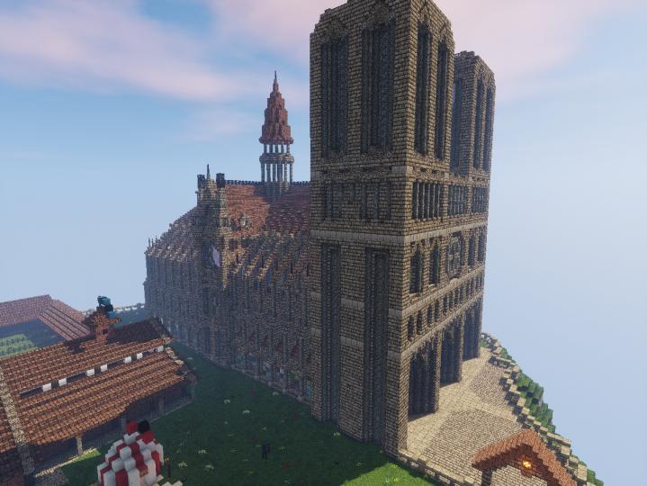 Notre Dame exterior.