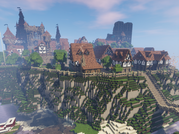 Cliffside view of the city.