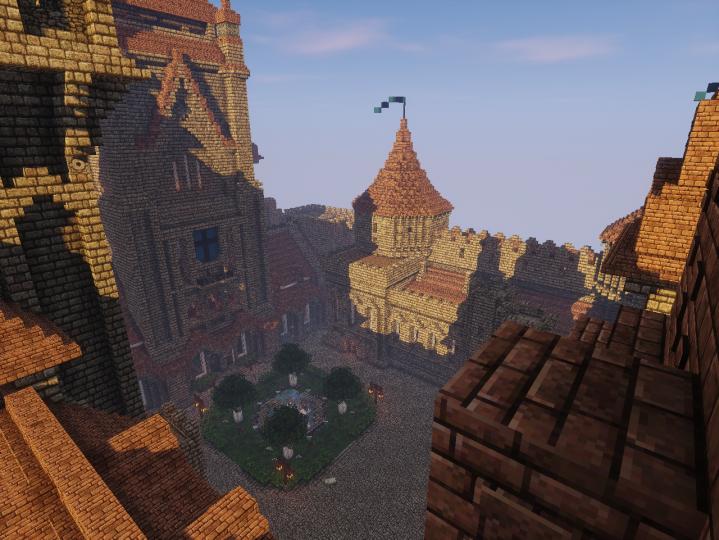 Castle courtyard.