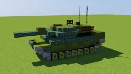 Leopard 2 Main Battle Tank Minecraft Map & Project