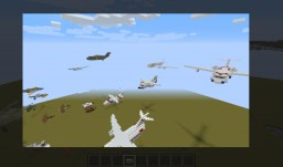 Aircraft (Approximately 1:1 civilian and military planes and helicopters) Minecraft Map & Project