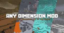 Any Dimension Mod 1.12.2 (208 dimensions!) Minecraft Mod