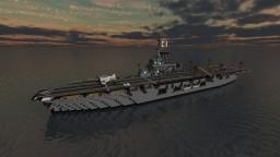 Fictional Japanese Aircraft Carrier - 玄鶴 (Genkaku) Minecraft Map & Project
