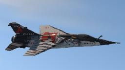 Dassault Mirage F1 (10:1) Scale Minecraft Map & Project