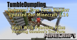 Universal Tree Farm for Minecraft 1.14 (Uses Function Files) Minecraft Map & Project