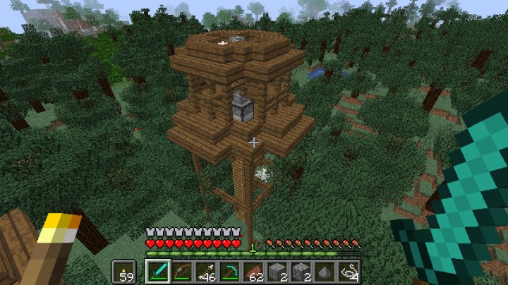 Load your own custom forest structure somewhere random in your world, for you to happen across while exploring.