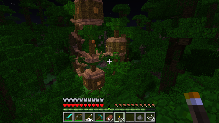 A custom-loaded jungle tree house, as an example of things you too can build and have load.