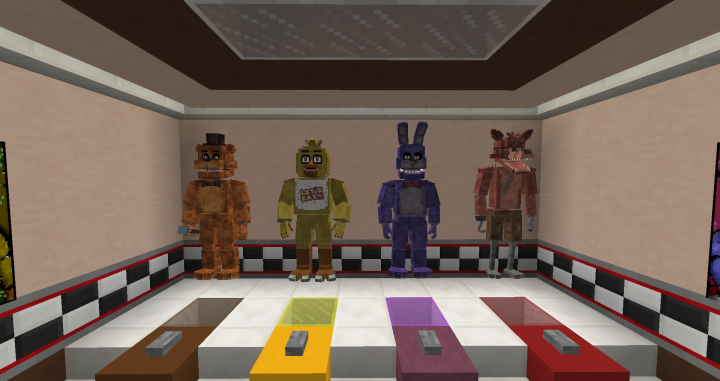 All the animatronics that you can morph as!