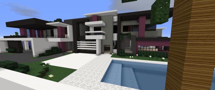 Purple Modern House Minecraft Project