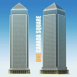 """UK's Second tallest Skyscraper: """"One Canada Square"""" Minecraft Map & Project"""