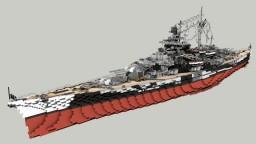 German Battleship Tirpitz 1:1 Minecraft Map & Project