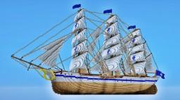 """Clipper ship  """"Le Grand Cru"""" Minecraft Map & Project"""