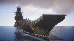 Admiral Kuznetsov (1:1 scale) Minecraft Map & Project