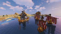 Viking drakkar fleet Minecraft Map & Project