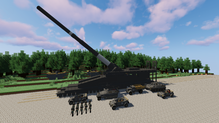 combined with customnpc mod and warfare44 flans mod pack