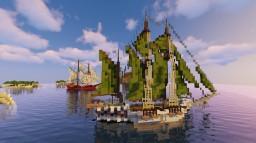 Green sailed schooner Minecraft Map & Project