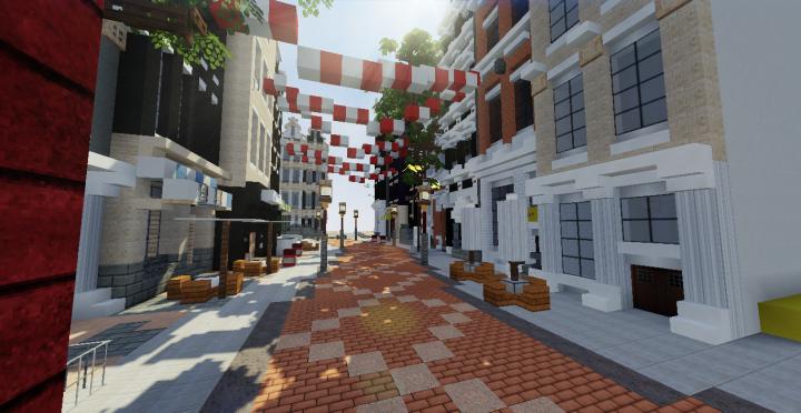 Shopping Street Minecraft Map