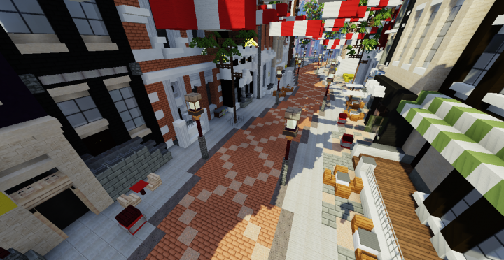 Shopping Street Minecraft Project