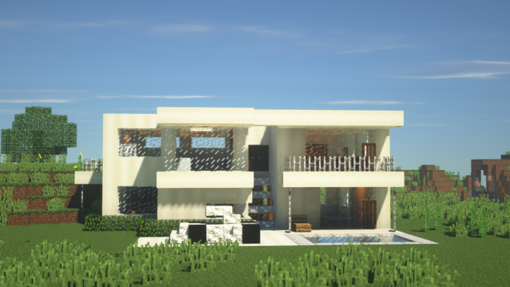. New Modern House Design Minecraft Project