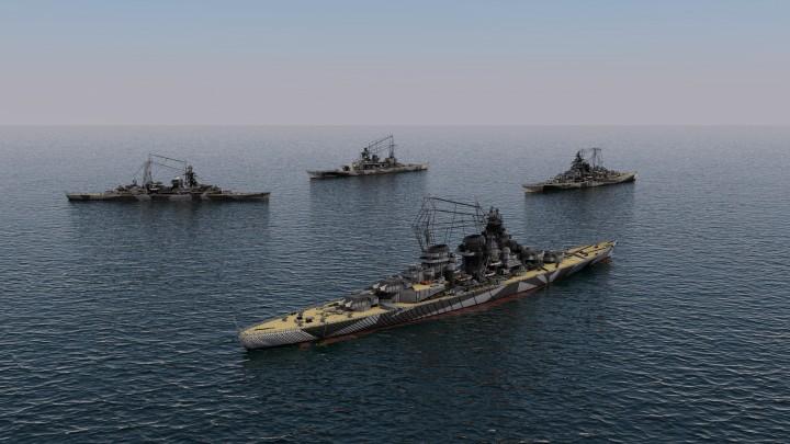Hipper, Scharnhorst, Tirpitz, and H39