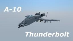 "Fairchild A-10 Thunderbolt II ""Warthog"" Minecraft Map & Project"