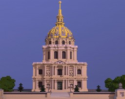Dome des Invalides (real scale reproduction) Minecraft Map & Project