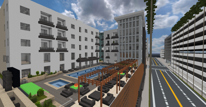 The Camden Apartments Pool Deck
