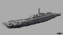 Fictional German Submarine Type XX Unterseflugzeugtragerkreuzer-boot (U.FL.ZG.TR-boot) (1:1) Minecraft Map & Project