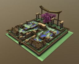 Asian styled spawn Minecraft Map & Project