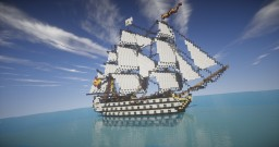 Santa Ana | First rate Ship of the Line (ShipSide) Minecraft Map & Project