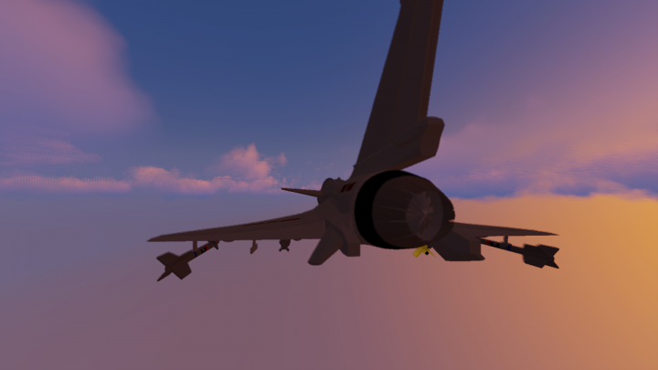 back view, landing gear up